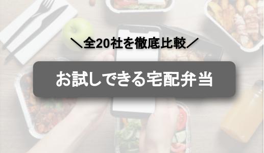 【徹底調査】お試しできる宅配弁当一覧!20社のお試し内容とおすすめの宅食