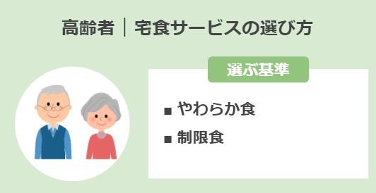 高齢者向け宅食サービスの選び方