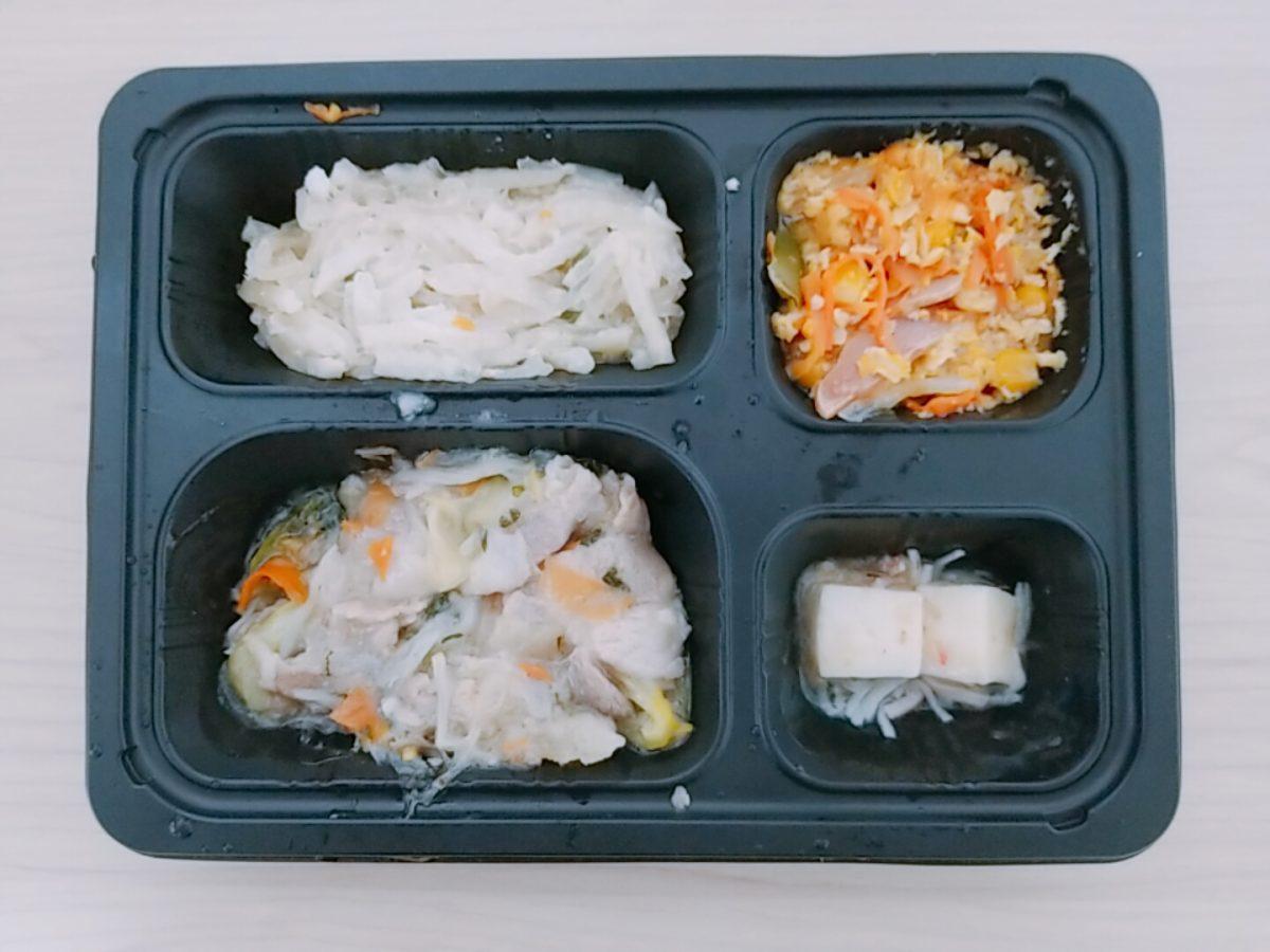 つるかめキッチン 豚肉とチンゲン菜の塩ダレ炒め弁当